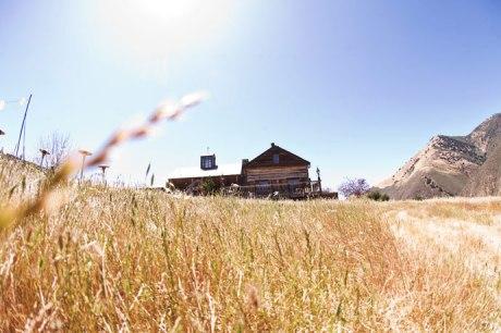 Low view of Figueroa Mountain Farmhouse