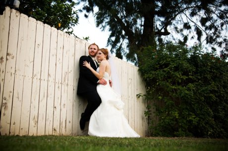 Bride and Groom at their Alta Vista Country Club Wedding in Orange County, California