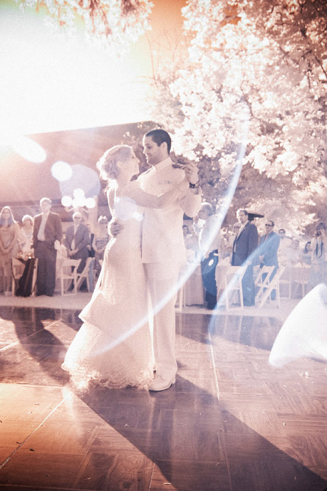 First Dance in Infrared at Brookside Equestrian Center Wedding