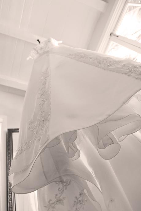 Wedding dress at La Vent Inn Wedding