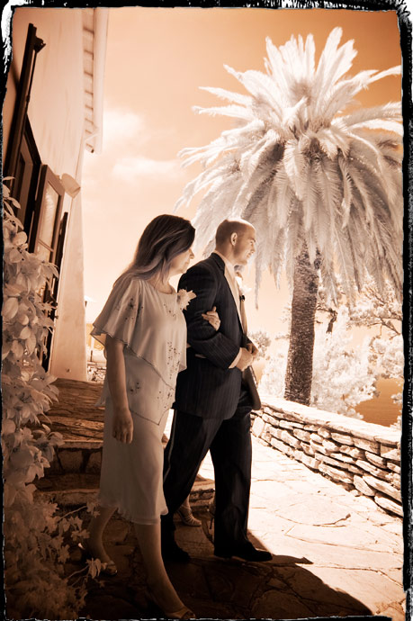 Infrared at La Venta Inn Wedding Ceremony