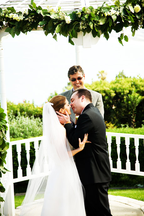 First Kiss at La Venta Inn Wedding Ceremony