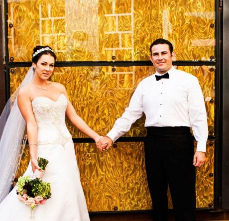 Bride and Groom at the Marina Del Rey Marriott in Los Angeles, California
