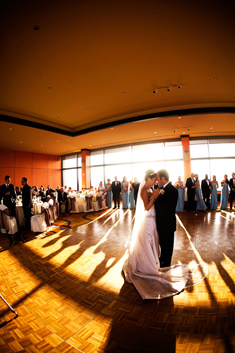 Bride and Groom share their first dance during their Wedding Reption at the Marina Del Rey Marriott.