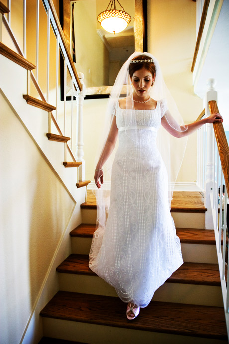 Bride at her parent's house before her wedding