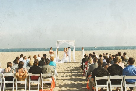 Beach Wedding Ceremony in Santa Barbara, California