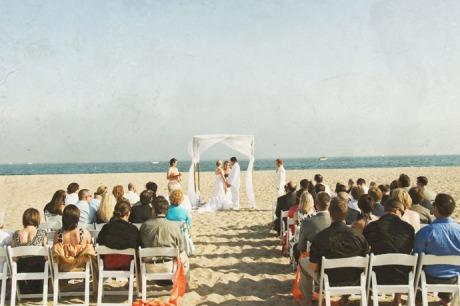 Beach Wedding Ceremony in Santa Barbara, California