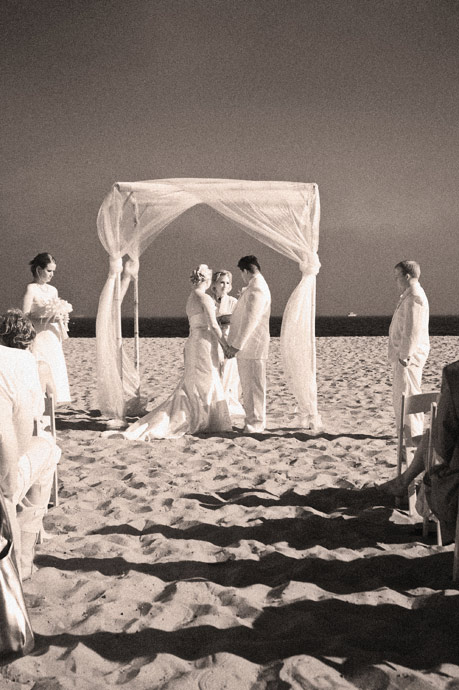 Infrared shot at Santa Barbara Beach Wedding