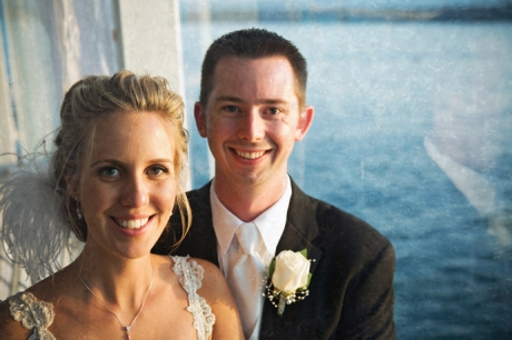 Bride and Groom on Electra Cruises Yacht