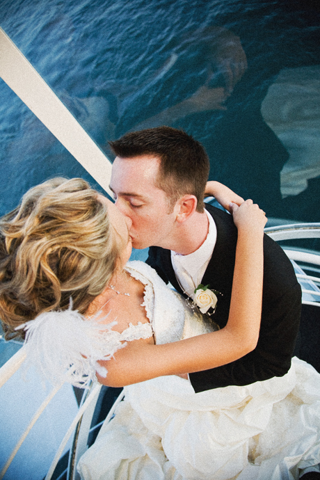 Bride and Groom aboard Electra Cruises Yacht