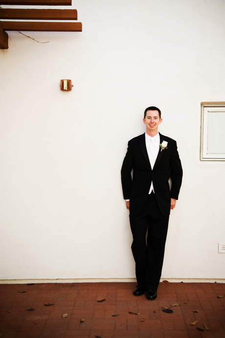Groom before the wedding ceremony at St. James Anglican Church