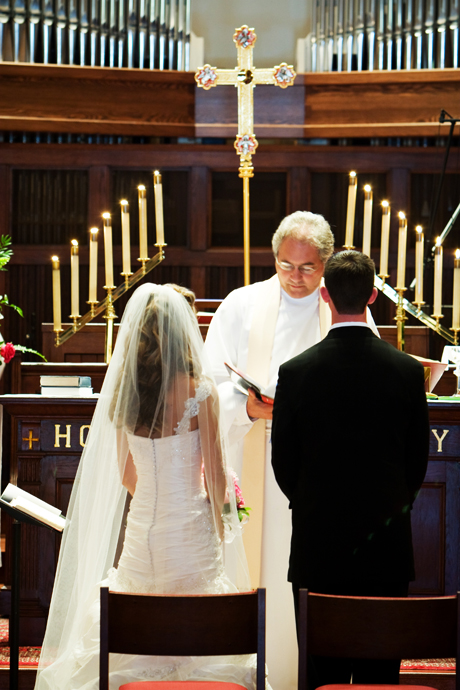 Wedding Ceremony at St. James Anglican Church in Newport Beach