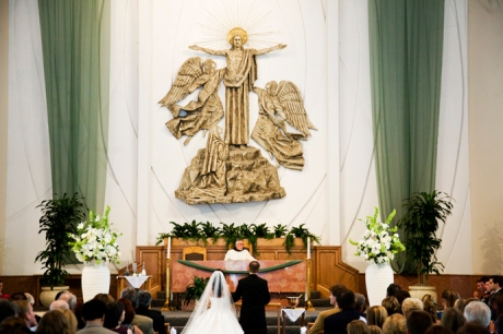 Wedding Ceremony at St. Lawrence Catholic Church in Redondo Beach, CA