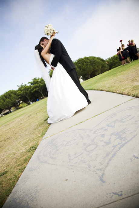 Bride and Groom in Redondo Beach, California