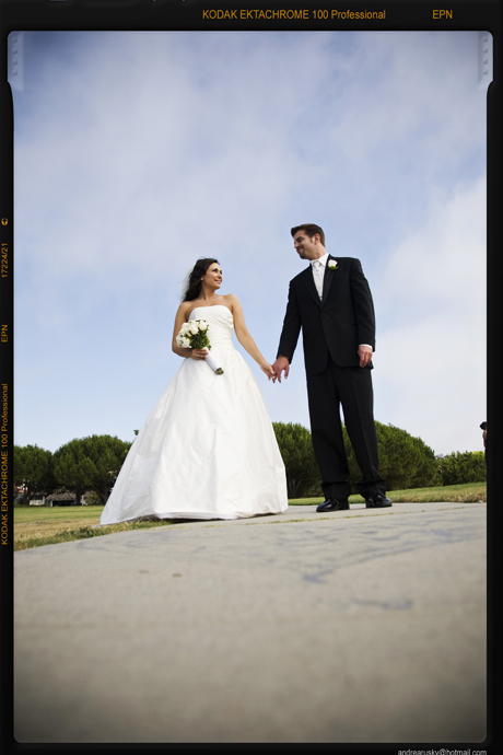 Bride and Groom in Redondo Beach, California