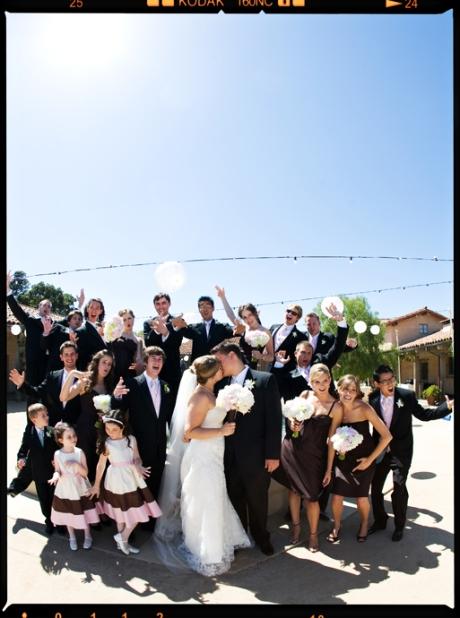 Bridal Party at the Santa Barbara Historical Museum
