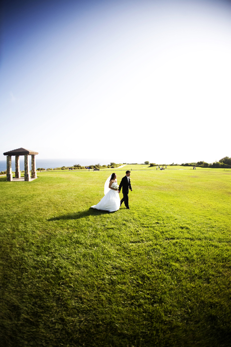 Bride and Groom at Trump National Golf Club