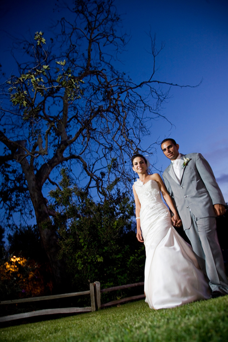 Bride and Groom at Strawberry Farms Wedding Reception