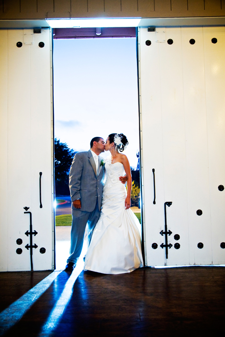 Bride and Groom at Strawberry Farms Wedding