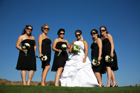 Bride and Girls at Black Gold Golf Club Wedding