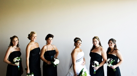 Bride and Girls at Black Gold Golf Club