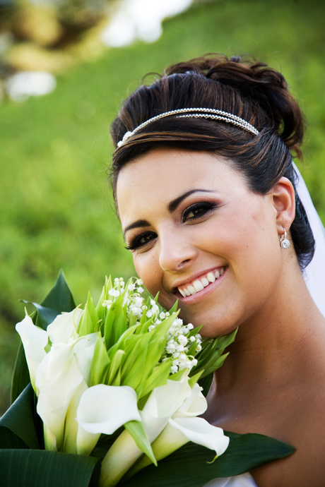 Pretty Bride at Black Gold Golf Club in Yorba Linda, California