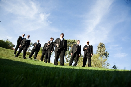 Groom and Guys at Black Gold Golf Club Wedding