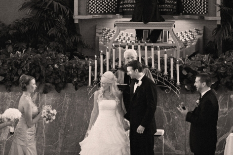 Infrared Wedding Photography at the Crystal Cathedral