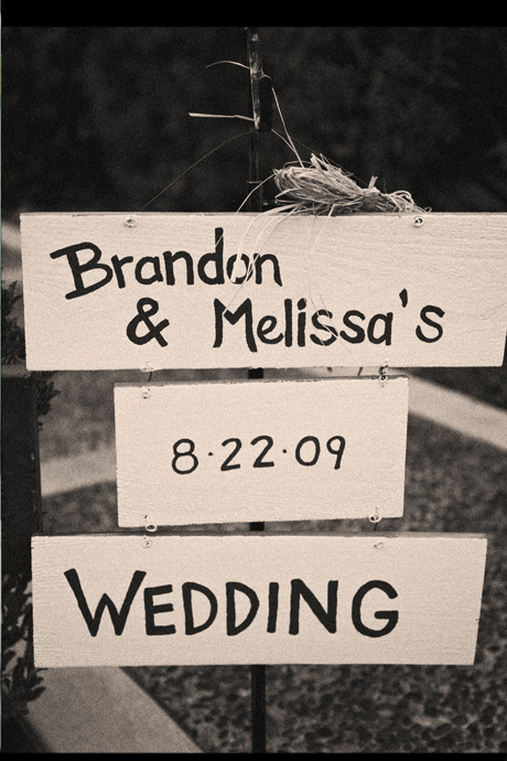 Handwritten Wedding Sing for Melissa and Brandon!