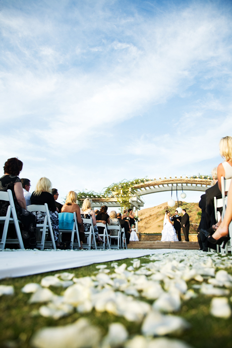 Wedding Ceremony at Black Gold Golf Club in Orange County California