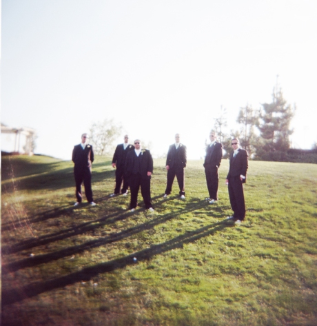 Groom and Guys at Black Gold Golf Club