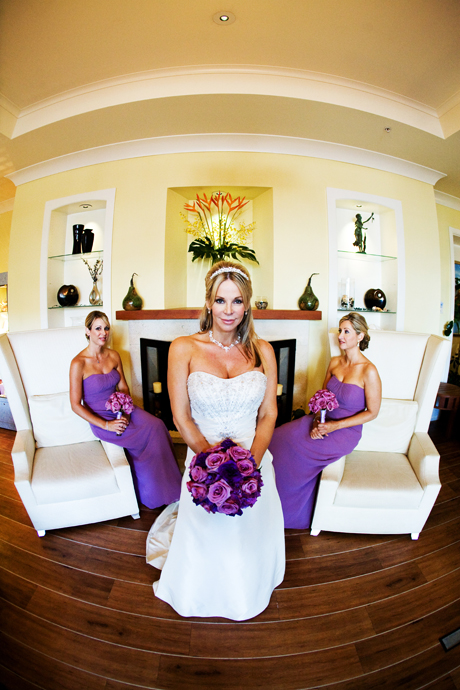 Bride and Girls at Laguna Cliffs Marriott Resort and Spa