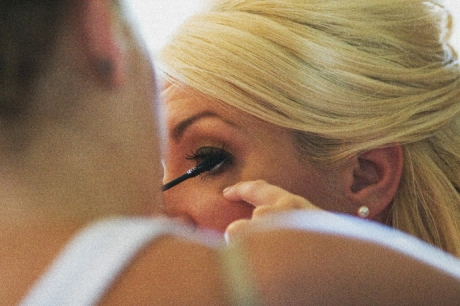 Bride getting ready in Orange County, California