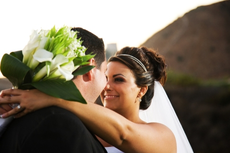Bride and Groom at Black Gold Golf Course Wedding