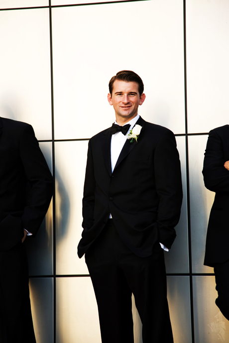 Groom looking cool at Crystal Cathedral Wedding