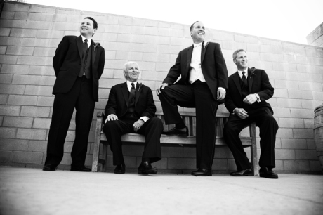 Groom and Groom'smen at Firestone Vineyard Wedding