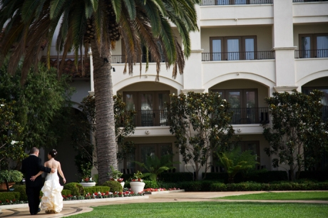 Bride and groom at the Saint Regis Laguna Niguel