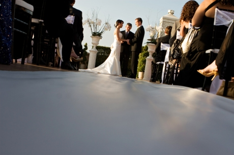 Rooftop Wedding Ceremony at the Beverly Wilshire