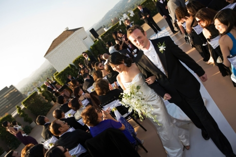 Rooftop Wedding Ceremony at the Beverly Wilshire Hotel