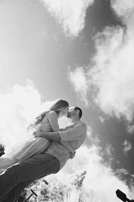 Infrared Engagement Photo at Westmont College