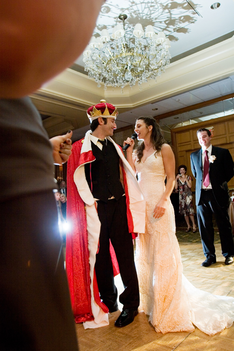 Groom is crowned King at an Intercontinental Hotel Wedding Reception