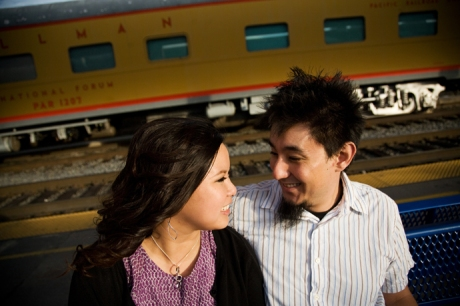 Union Station Los Angeles Engagement Pictures