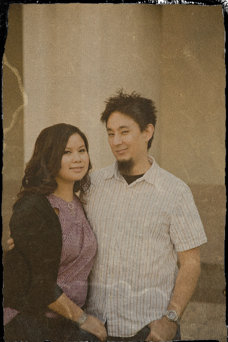 Los Angeles Union Station Engagement Photo
