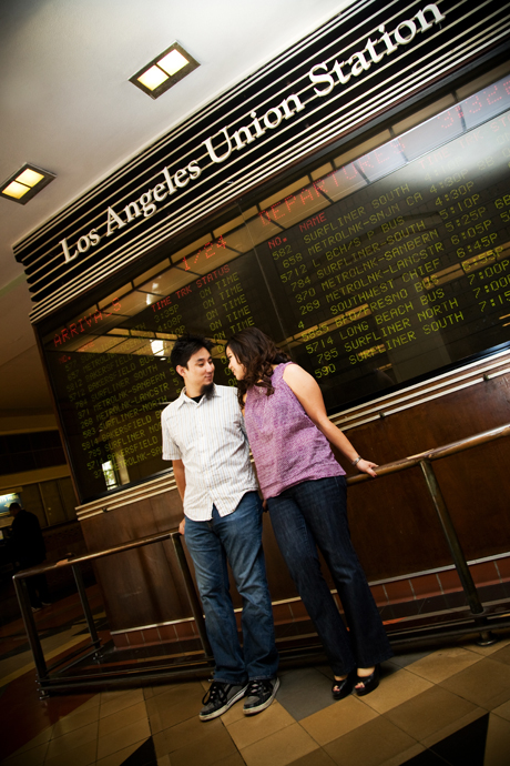 Engagement Photos at Los Angeles Union Station