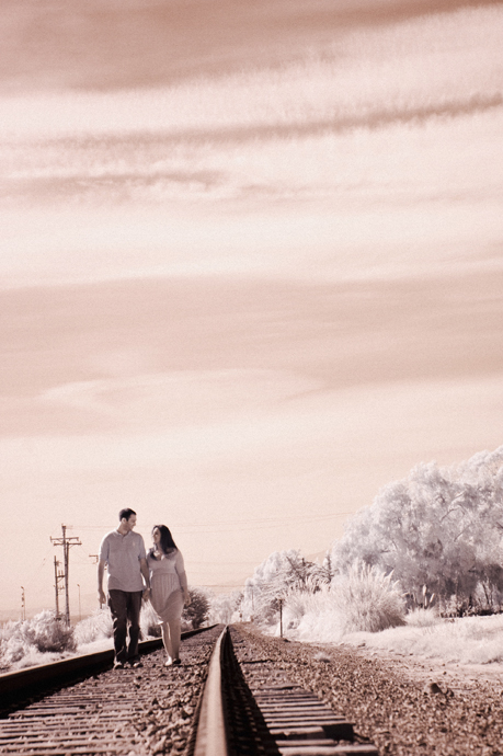 Infrared Engagement Pictures in Santa Barbara
