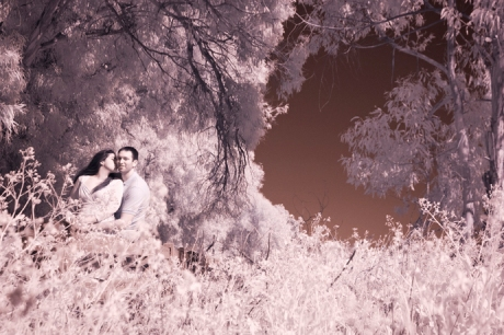 Infrared Wedding Photography in Carpinteria