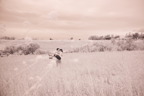 Infrared Engagement Photography in Malibu