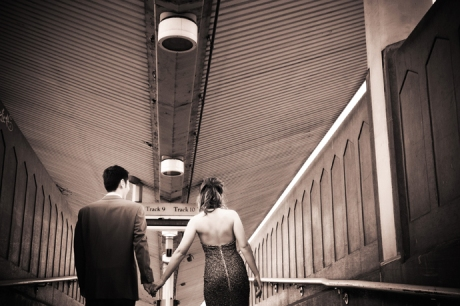 Infrared Engagement Photography at Los Angeles Union Station