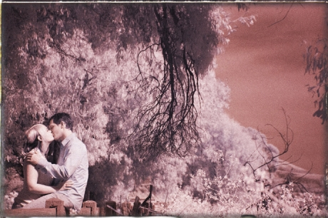 Infrared Engagement Photography at Carpinteria Bluffs