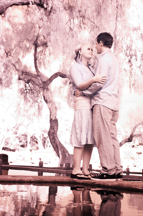 Infrared Engagement Shoot at Santa Barbara Mission
